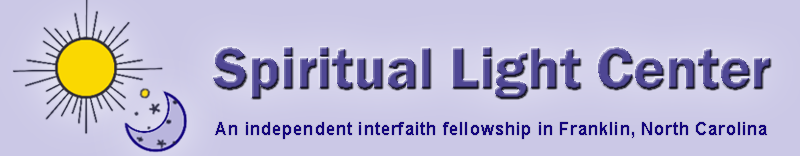 Spiritual Light Center, an independent New Thought fellowship in Franklin, North Carolina